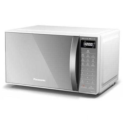 Micro-ondas De Mesa Panasonic Com 21 Litros De Capacidade Branco Com Porta Espelhada - Nn-st27lwru - 220v