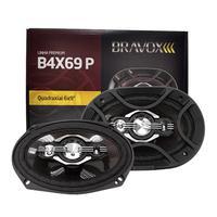 Par Alto-falantes Quadriaxial 6x9 B4x69 P 80w Rms Bravox
