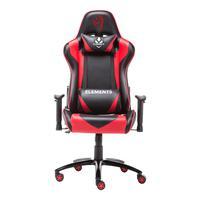 Cadeira Gamer Elements Veda Ignis Vermelha Preta