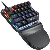 Teclado Motospeed K27 Preto Switch Azul Rainbow
