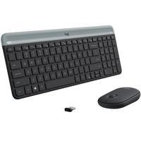 Teclado e Mouse Logitech MK470 Slim Ultrafino Teclas Chiclete Silenciosa Sem Fio ANSI Americano