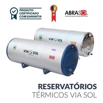 Aquecedor Solar Via Sol Reservatório 500l Chuveiro Torneira