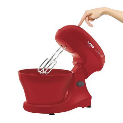 Batedeira Arno Chef 400w 5 Litros Vermelha Sm02 - 110v