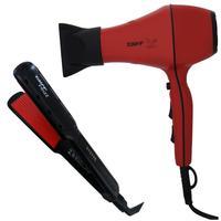 Kit Taiff - Secador Profissional Style Red 2000w 127v + Prancha Frizz 230ºc Biv