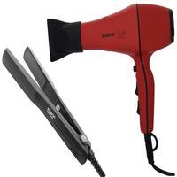 Kit Taiff - Secador Profissional Style Red 2000w 127v + Prancha Ceramic 180ºc Bv