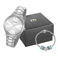 Kit Relógio Feminino Mondaine Prata - 53761l0mkne3k1 - Unico
