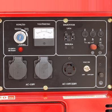 Gerador De Energia A Diesel Silenciado Monofasico 8kva 110-220v Partida Elétrica 60hz - Nd9000es - Nagano