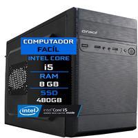 Computador Fácil Intel Core I5 8gb Ssd 480gb