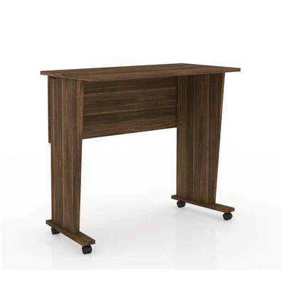 Mesa Para Computador Dobrável Com Rodízio Me4117 – Tecno Mobili - Nogal