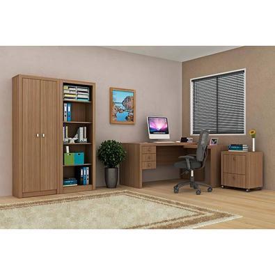 Mesa Para Computador Com 3 Gavetas Me4106 - Tecno Mobili - Amendoa