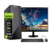 """Computador Completo Fácil Intel Core I5 10400f (décima Geração) 8gb Ddr4 Geforce Nvidia 1gb Ssd 240gb Monitor 19"""" Hdmi"""