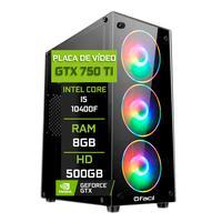 Pc Gamer Fácil Intel Core I5 10400f 8gb Geforce Gtx 750ti 4gb Gddr5 Hd 500gb Fonte 500w