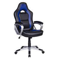 Cadeira Gamer Em Couro Pu Pelegrin Pel-3007 - Azul