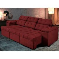 Sofá 3 Lug Retratil Reclinavel Glamour 225 Vermelho - Ws