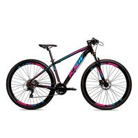 Bicicleta Alum 29 Ksw Cambios Gta 27 Vel Freio Disco Hidráulica E Trava - Preto/azul E Rosa - 15.5 polegadas