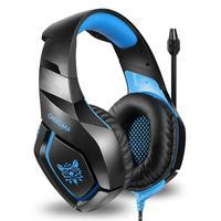 Fone Headset Gamer Azul P2/p3 Usb Led 50mm Cabop 2,2m Onikuma Azul