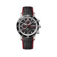 Relógio Masculino Wenger Roadster Black Night Chrono Preto E Vermelho