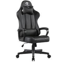 Cadeira Gamer Giratória Com Elevação A Gás 02 Almofadas De Apoio Vickers H01 Preto - Fortrek