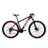 """Bicicleta Alum 29 Ksw Cambios Gta 27 Vel Freio Disco Hidráulica E Trava - 21"""" - Preto/vermelho"""