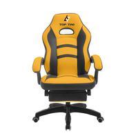 Cadeira Gamer Giratoria Amarela Top Tag - HS927YL