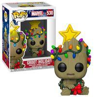 Boneco Funko Pop Marvel Holiday Groot Holiday 530