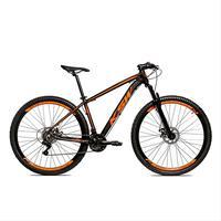 Bicicleta Alum 29 Ksw Cambios Gta 24 Vel A Disco Ltx - 15.5'' - Preto/laranja Fosco