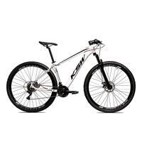Bicicleta Alumínio Aro 29 Ksw 24 Velocidades Freio A Disco Krw16 - 21´´ - Branco/preto