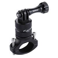 Suporte Bike/moto/cilindro Em Alumínio 360 Graus Para Gopro Sjcam - Preto
