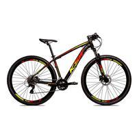 Bicicleta Alum 29 Ksw Cambios Gta 27 Vel Freio Disco Hidráulica - Preto/amarelo E Vermelho - 19´´