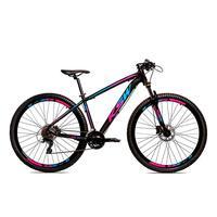 Bicicleta Alum 29 Ksw Shimano 27v A Disco Hidráulica Krw14 - 17'' - Preto/azul E Rosa