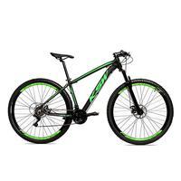 Bicicleta Alum 29 Ksw Cambios Gta 24 Vel A Disco Ltx - 17´´ - Preto/verde Fosco