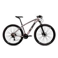 Bicicleta Alumínio Ksw Shimano Altus 24 Vel Freio Hidráulico E Cassete Krw19 - 17´´ - Prata/preto