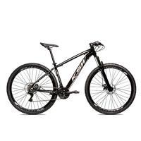 Bicicleta Alumínio Aro 29 Ksw 24 Velocidades Freio A Disco Krw16 - 15.5´´ - Preto/prata