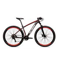Bicicleta Alumínio Ksw Shimano Altus 24 Vel Freio Hidráulico E Cassete Krw19 - 21´´ - Preto/vermelho