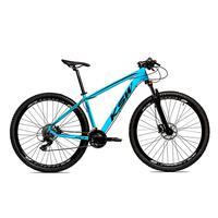 Bicicleta Alumínio Ksw Shimano Altus 24 Vel Freio Hidráulico E Suspensão Com Trava Krw18 - 17´´ - Azul/preto