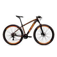 Bicicleta Alumínio Ksw Shimano Altus 24 Vel Freio Hidráulico E Cassete Krw19 - 21'' - Preto/laranja Fosco