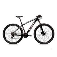 Bicicleta Alum 29 Ksw Shimano 27v A Disco Hidráulica Krw14 - 21´´ - Preto/prata