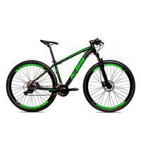 Bicicleta Alumínio Ksw Shimano Altus 24 Vel Freio Hidráulico E Cassete Krw19 - 21´´ - Preto/verde Fosco