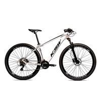 Bicicleta Alum 29 Ksw Shimano 27v A Disco Hidráulica Krw14 - 17´´ - Branco/preto
