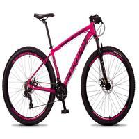 Bicicleta Aro 29 Dropp Rs1 Pro 21v Tourney Freio Disco/trava - Rosa/preto - 21