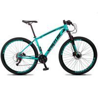 Bicicleta Aro 29 Spaceline Vega 27v Suspensão E Freio Hidral - Verde/preto - 19´´ - 19´´