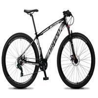 Bicicleta Aro 29 Dropp Rs1 Pro 21v Tourney Freio Disco/trava - Cinza/branco - 17