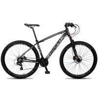 Bicicleta Aro 29 Dropp Z4x 24v Susp C/trava Freio Hidraulico - Preto/cinza - 21''