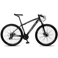 Bicicleta Aro 29 Spaceline Vega 21v Suspensão E Freio Disco - Preto/cinza - 15''
