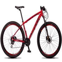 Bicicleta Aro 29 Dropp Rs1 Pro 24v Acera Freio Hidra E Trava - Vermelho/preto - 19´´ - 19´´