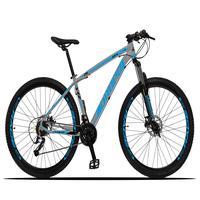 Bicicleta Aro 29 Dropp Z3x 27v Suspensão E Freio Hidraulico - Cinza/azul - 21´´ - 21´´