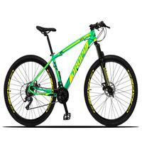Bicicleta Aro 29 Dropp Z3x 21v Suspensão E Freio Disco - Verde/amarelo - 21''