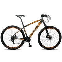 Bicicleta Aro 29 Dropp Z4x 24v Susp C/trava Freio Hidraulico - Preto/laranja - 19''