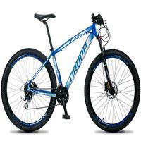 Bicicleta Aro 29 Dropp Rs1 Pro 24v Acera Freio Hidra E Trava - Azul/branco - 19