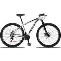 Bicicleta Aro 29 Dropp Aluminum 21v Suspensão, Freio A Disco - Branco/preto - 19